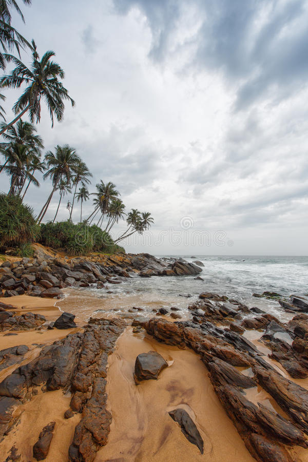 Kustlijn in Galle, Sri Lanka royalty-vrije stock foto