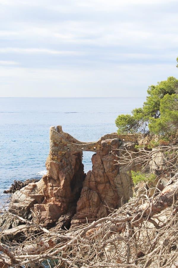 Kustlijn van Lloret de Mar royalty-vrije stock afbeelding