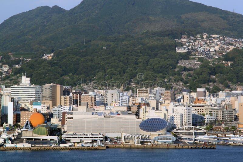 Kustlijn van Nagasaki, Japan stock foto's