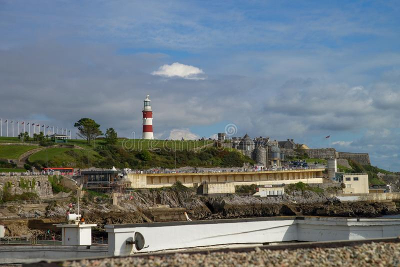 Kustlijn van Plymouth in het Verenigd Koninkrijk stock foto's