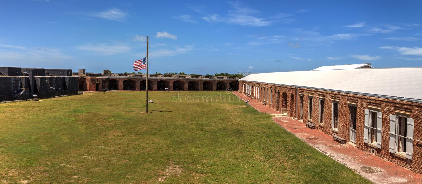 Kustlijnmening van Fort Zachary Taylor in Key West, Florida stock afbeeldingen