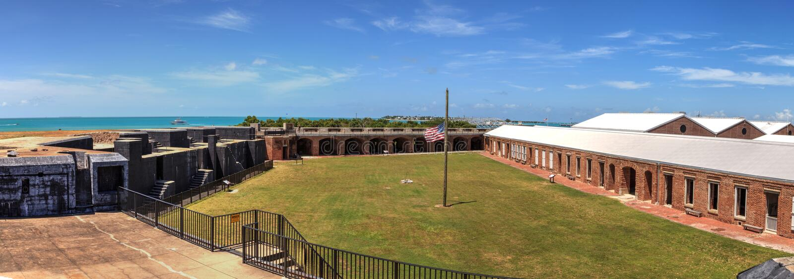 Kustlijnmening van Fort Zachary Taylor in Key West, Florida royalty-vrije stock foto