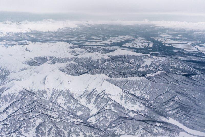 Kustlinje av Stilla havet Kamchatka halvö arkivfoto