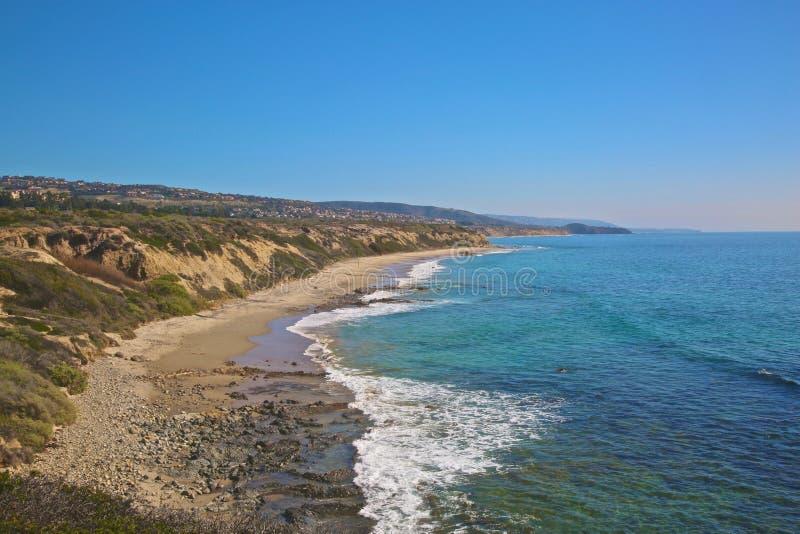 Kustlinje Crystal Cove Newport Beach California arkivbilder