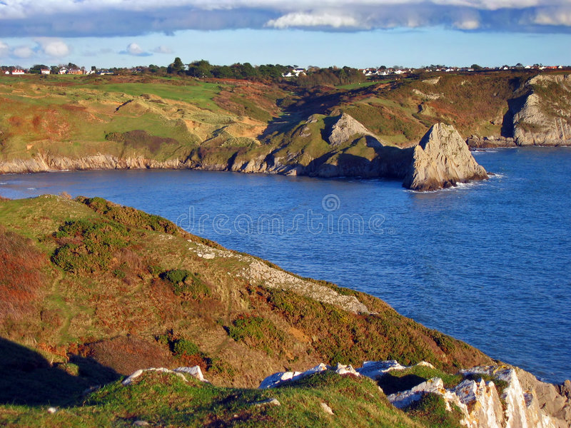 kustlinje södra wales royaltyfri fotografi