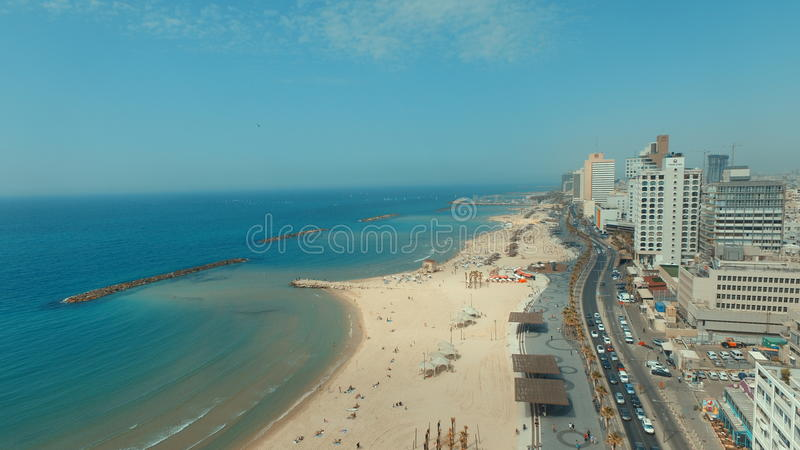 Kustlinje Tel Aviv royaltyfri fotografi
