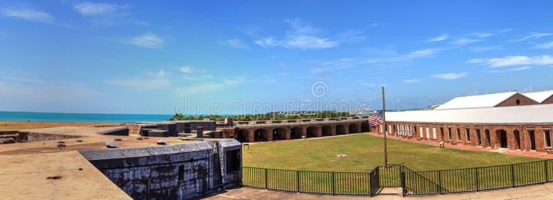 Kustlinjesikt av fortet Zachary Taylor i Key West, Florida fotografering för bildbyråer