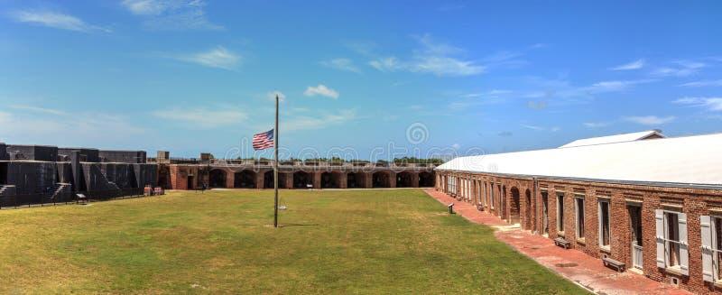 Kustlinjesikt av fortet Zachary Taylor i Key West, Florida arkivfoton