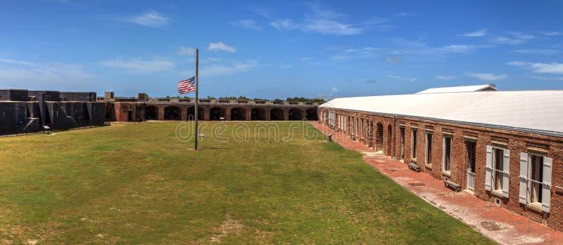 Kustlinjesikt av fortet Zachary Taylor i Key West, Florida arkivbilder