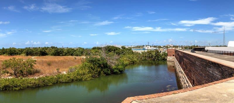 Kustlinjesikt av fortet Zachary Taylor i Key West, Florida royaltyfria bilder