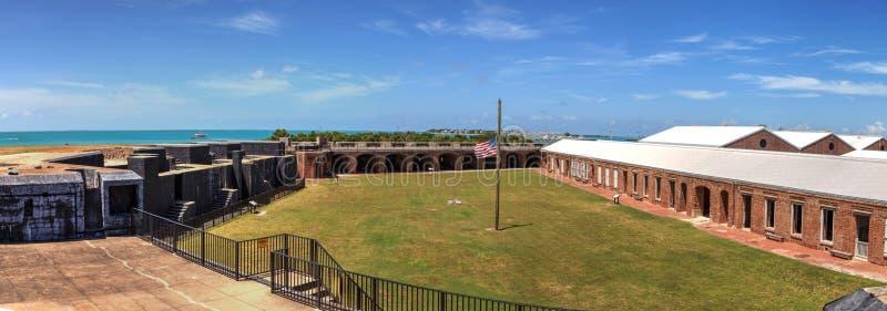 Kustlinjesikt av fortet Zachary Taylor i Key West, Florida royaltyfri foto