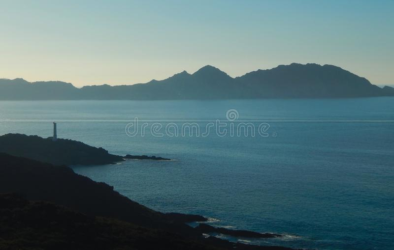Kustmening van Cies-eilanden stock afbeelding