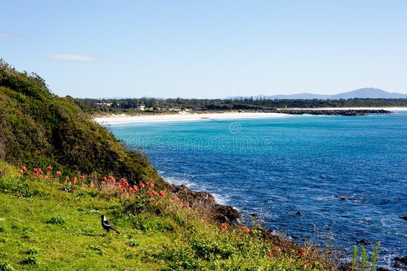 Kustscène in Forster, Nieuw Zuid-Wales, Australië royalty-vrije stock foto's