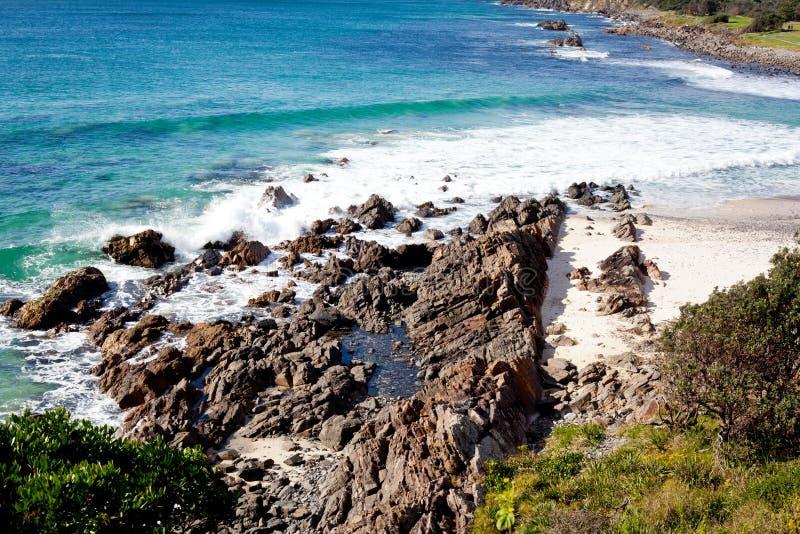 Kustscène in Forster, Nieuw Zuid-Wales, Australië stock fotografie