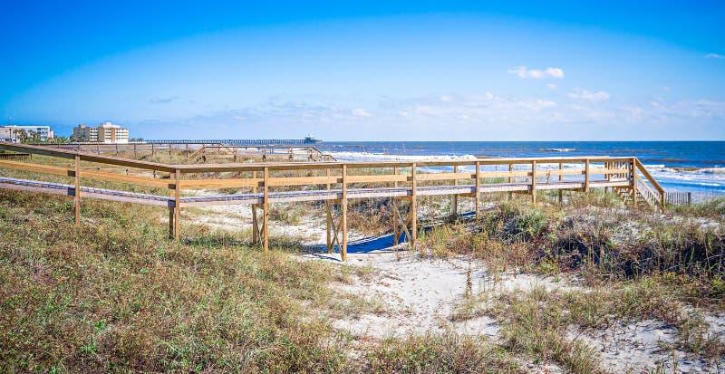 Kustscènes rond van het Zuid- dwaasheidsstrand Carolina royalty-vrije stock afbeeldingen