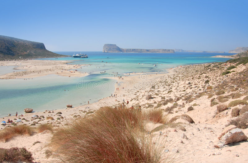 Kuststreek van Kreta stock fotografie
