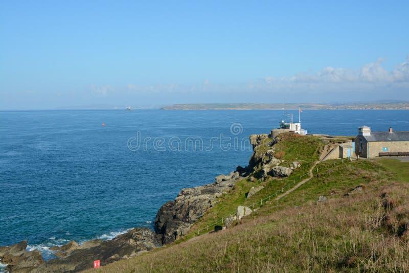 Kustwachtpost, Heilige Ives, Cornwall, Engeland royalty-vrije stock foto