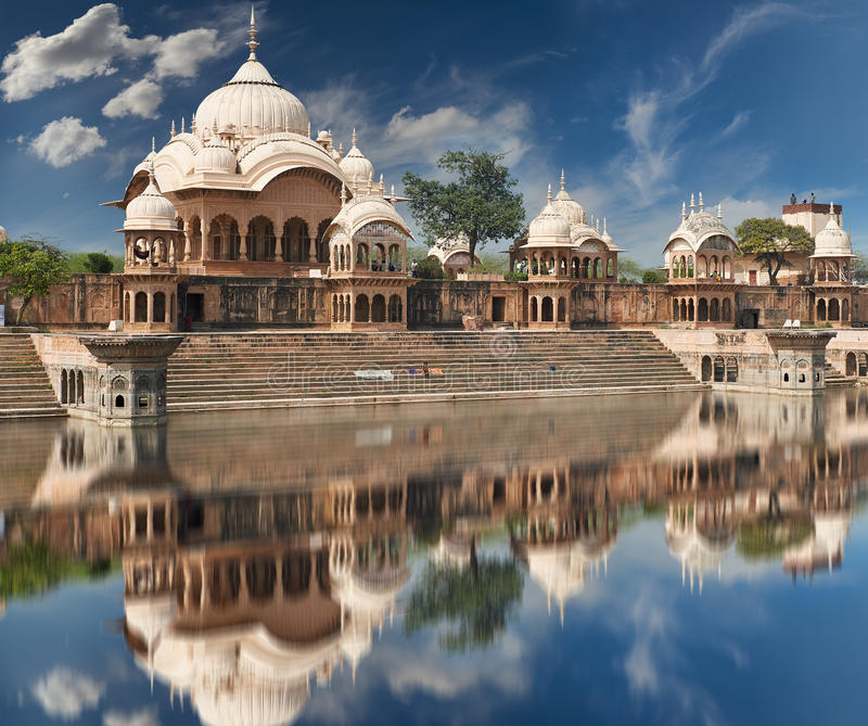 Kusum Sarovar em Mathura Uttar Pradesh, Índia imagem de stock