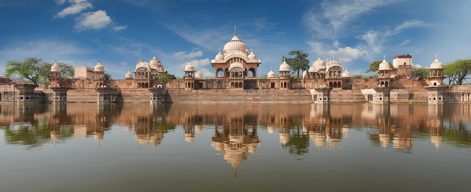 Kusum Sarovar in Mathura Uttar-Pradesh, India. Kusum Sarovar. This lake is one of the most visited places in Mathura. Next to it there are numerous temples and stock image