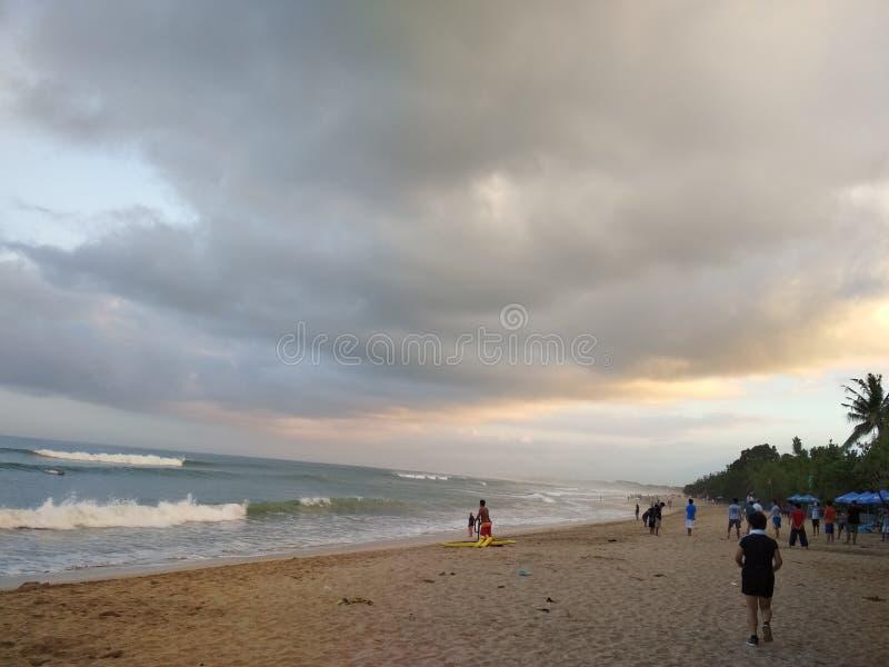 Kuta Bali i morgonen royaltyfri bild