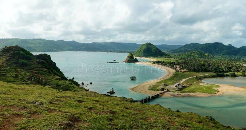 Kuta Beach in Lombok royalty free stock photo