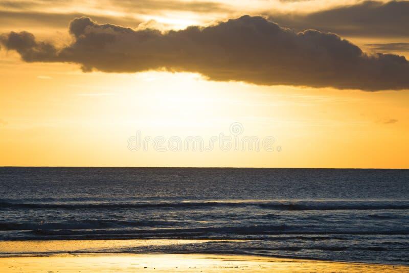 Kuta plażowy zmierzch zdjęcia royalty free