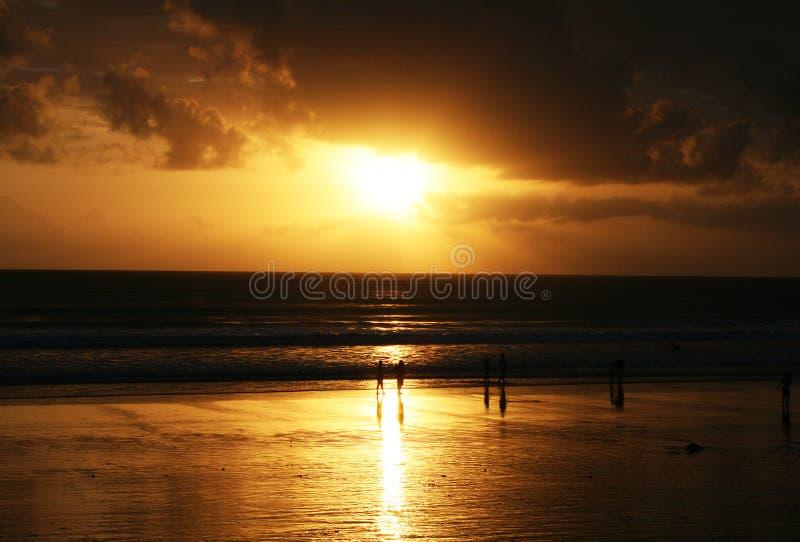 Kuta Sonnenuntergang lizenzfreies stockfoto