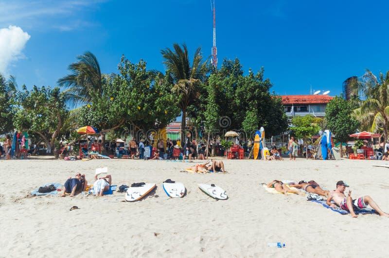 Kuta strand, Bali, Indonesien, South East Asia arkivbilder