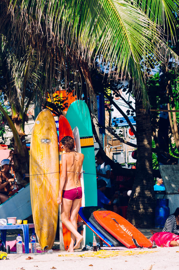Kuta strand, Bali, Indonesien, South East Asia royaltyfria bilder