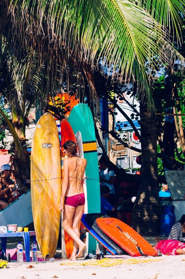 Kuta strand, Bali, Indonesien, South East Asia royaltyfria foton