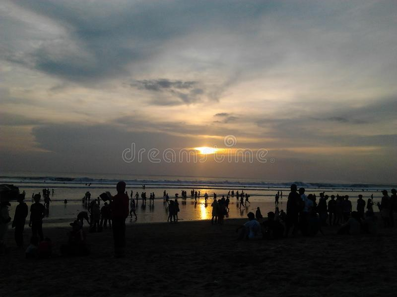 Kuta sunset stock images