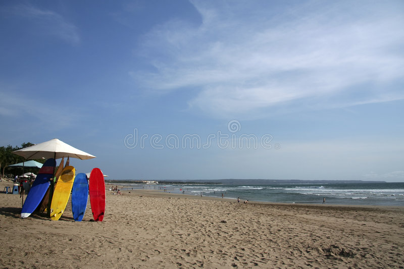 Kuta surfboards bali beach indonesia royalty free stock image