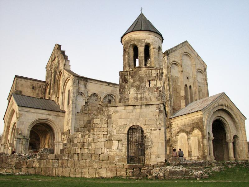 Kutaisi is a city in west Georgia. It`s home to the centuries-old Bagrati Cathedral. On the city`s outskirts, the Gelati Monastery is a medieval cathedral with royalty free stock image