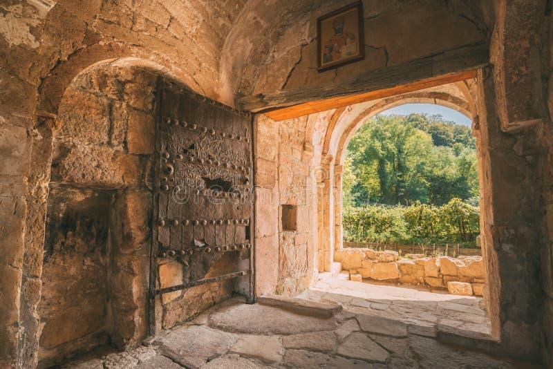 Kutaisi, Georgia. Iron Door Of Main Gate Of City At Tomb Of David royalty free stock photo