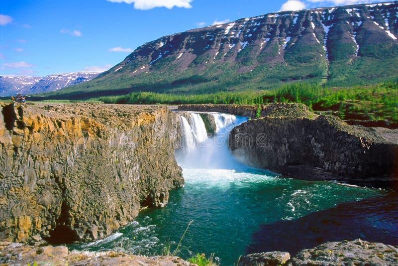 Kutamarakan river waterfall royalty free stock images