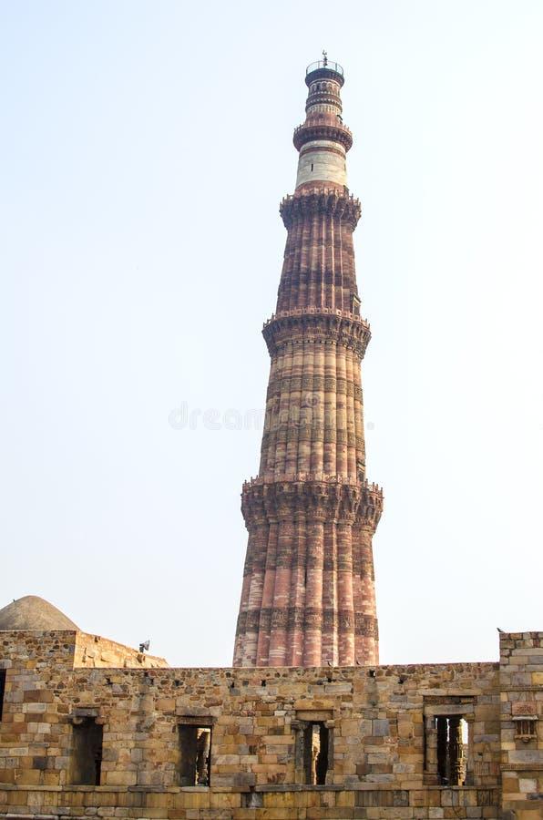 Kutb Minar, башня победы в Дели стоковые изображения rf