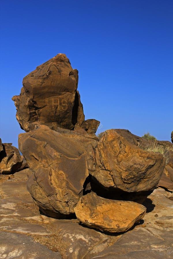 Kutch skamieliny park, GUJARAT, India zdjęcia stock