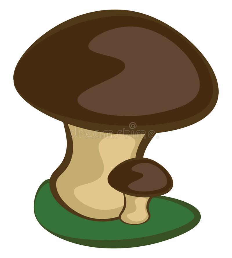 Kute mamma en babycartoons paddenstoelen vector of kleurenillustratie stock illustratie