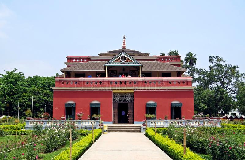 Kuthibari, familieherenhuis van Rabindranath Tagore, Kushtia, Bangladesh royalty-vrije stock foto