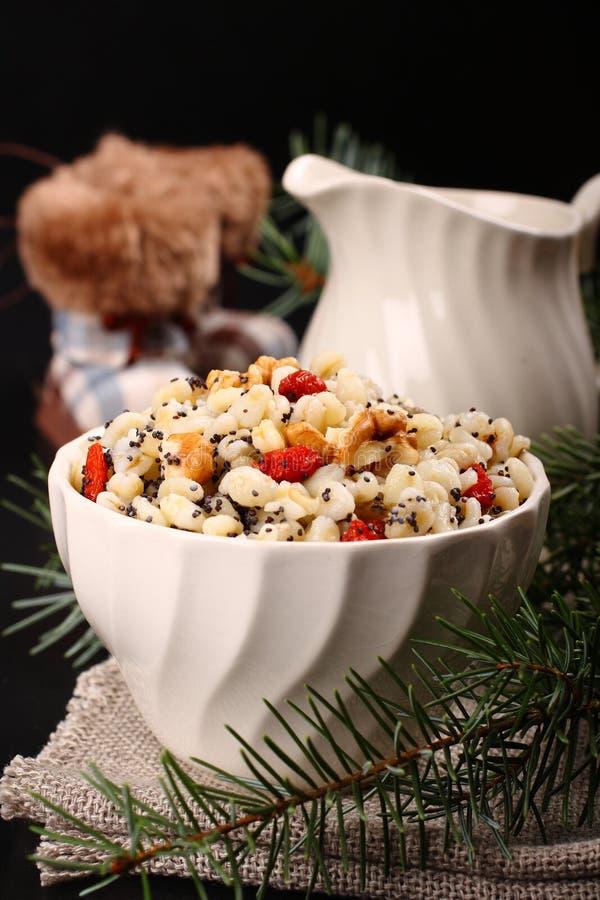 Kutia Традиционная еда помадки рождества стоковые изображения