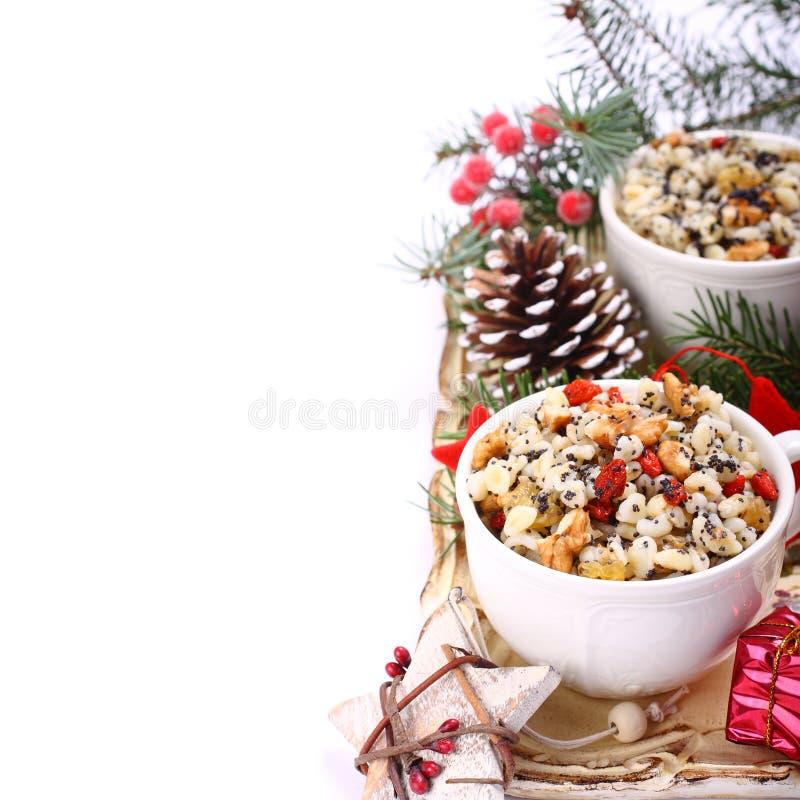 Kutia Традиционная еда помадки рождества стоковое фото rf