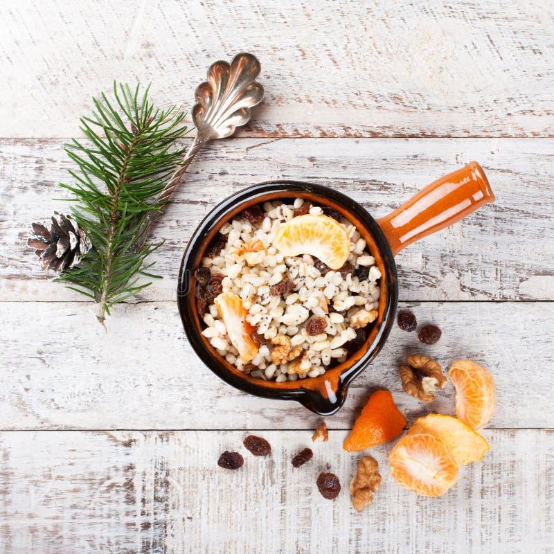 Kutia Традиционная еда помадки рождества стоковые фото