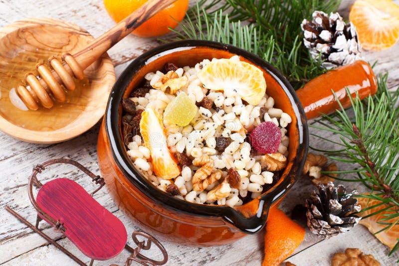 Kutia Традиционная еда помадки рождества стоковое изображение rf