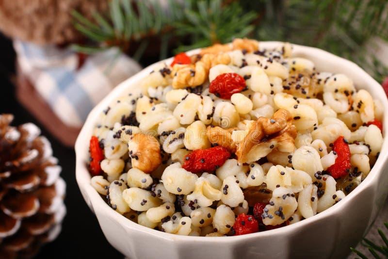 Kutia 传统圣诞节甜点膳食 免版税库存图片