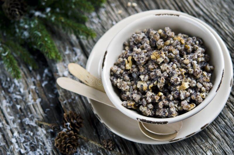 Kutia, prato tradicional do Natal imagens de stock