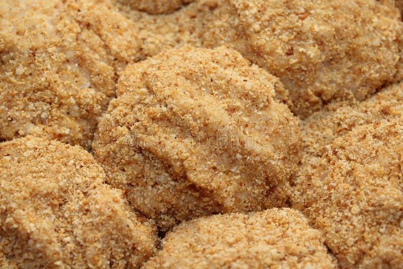 Kutlety w okruchach chleba na zdrową dietę obraz stock