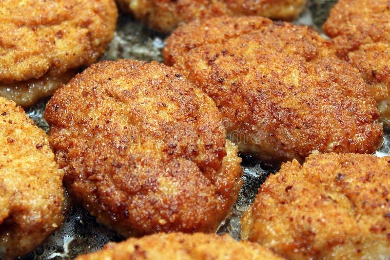 Kutlety w okruchach chleba na zdrową dietę fotografia stock