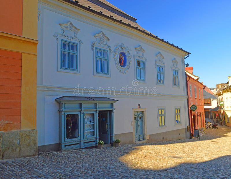 Architectural detail in Kutna Hora Czech Republic royalty free stock photo