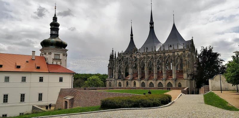 Kutna hora church of saint Barbara stock photo