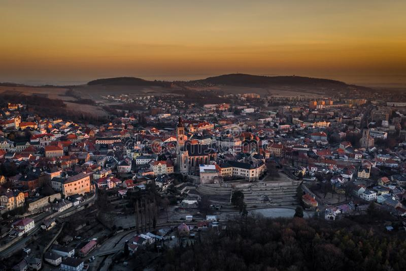Kutna Hora is city from 12 century royalty free stock image